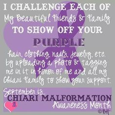 chiari malformation awareness month - Google Search