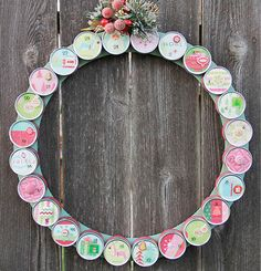 Adorable advent calendar using favor tins - Crafts n' things Weekly 11/21/12 - chic advent wreath