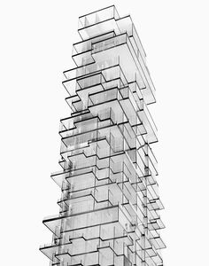 56 Leonard Street model by Herzog De Meuron Architecture Drawings, Gothic Architecture, Amazing Architecture, Architecture Details, Interior Architecture, Architecture Graphics, Contemporary Architecture, Leonard Street, Architecture Classique