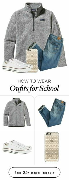featuring Patagonia, American Eagle Outfitters, Casetify and Converse Fall Winter Outfits, Autumn Winter Fashion, Summer Outfits, Casual Outfits, Cute Outfits, Fall Fashion, School Looks, Fashion Mode, Fashion Outfits