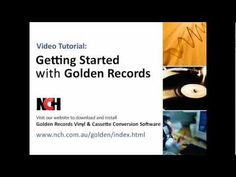 Golden Records Vinyl to CD or Mp3 Converter -- This tutorial walks you through connecting your audio cassette player or turntable to your computer, going through the wizard, converting your first album and then saving or burning the recorded files.