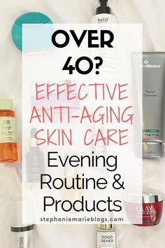 Anti-aging skincare can be overwhelming. This is an effective nighttime anti-aging skincare routine with products that address the needs of women over 35 or 40 Best Anti Aging, Anti Aging Cream, Anti Aging Skin Care, Anti Aging Tips, Organic Skin Care, Natural Skin Care, Natural Beauty, Natural Makeup, Asian Beauty