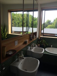 bathroom cabinets and basins