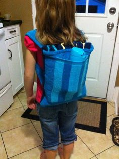 Beach Towel Backpack with pocket- looks nice and simple to figure out...?