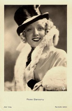 Hungarian actress Rose Barsony looking resplendently chic in a top hat and a high collared coat. Old Hollywood Movies, Old Hollywood Glamour, Golden Age Of Hollywood, Vintage Hollywood, Marlene Dietrich, Vintage Photos Women, Vintage Ladies, Budapest, Old Movie Stars