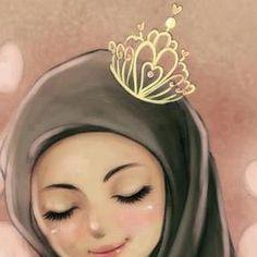 allah, crown, hijab, islam, muslim, muslimah, women