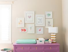 Exquisite interior design and a passion for purple come together beautifully for the sweetest little babe's pretty nursery