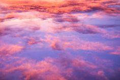 beautiful clouds in sunset