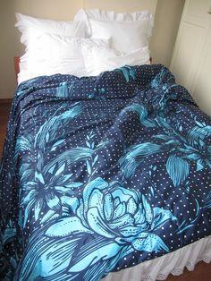 Floraison de Marine royale turquoise bleu fleur floral literie Bohème - King Queen Double complet housse de couette satin de coton turque Turquie Istanbul par nurdanceyiz sur Etsy https://www.etsy.com/ca-fr/listing/188095521/floraison-de-marine-royale-turquoise
