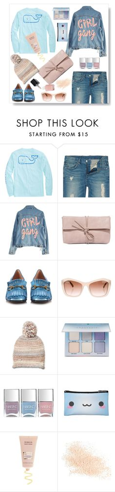 """""""Girly gang"""" by gul07 ❤ liked on Polyvore featuring Vineyard Vines, High Heels Suicide, LULUS, Gucci, Chanel, Steve Madden, Anastasia Beverly Hills, Nails Inc. and Eve Lom"""
