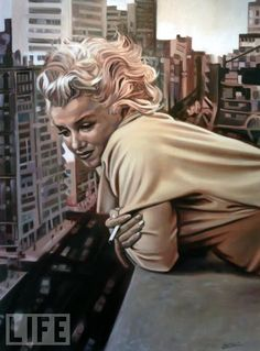Marilyn Painting by Laurent Smael