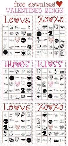 FREE Printable Valentine's BINGO game on { lilluna.com }