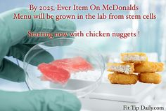 McDonalds announces that it will be the first chain to produce lab grown chicken from stem cells.  PETA rejoices but will you ???    #health #fitness #fastfood #stemcells #peta #exercise #fitfam