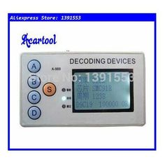 4 in 1 wireless remote control detector scanner decoder : Acartool 315MHZ/330MHZ/430MHZ/433MHZ car remote code scanner decoder 4 in 1 wireless remote control detector.  http://www.aliexpress.com/store/product/Acartool-1pc-315MHZ-330MHZ-430MHZ-433MHZ-car-remote-code-scanner-decoder-4-in-1-wireless-remote/1391553_2042596189.html  . Description  4 in 1 Remote Control Decoder 315MHZ 330MHZ 430MHZ 433MHZ Fixed Frequency Decoding Device.  This wireless Remote control Detector & Duplicator is only