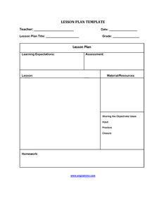 Tans on pinterest for Lfs lesson plan template