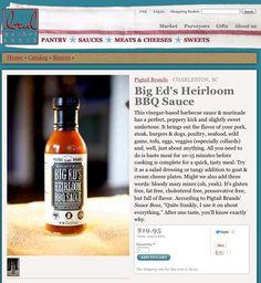 Big Ed's Heirloom BBQ Sauce in Local Market South Atlanta Online Retail Market
