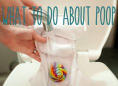 What do you do with the poop when you use cloth diapers?  Guide to each stage and phase and the solution.