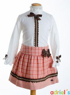 Conjunto de Dolce Petit falda y blusa para niña!