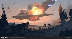 "pixalry: ""Star Wars Concept Artwork - Created by Renaud Roche Created for the ILM Star Wars Challenge, check out the full details here. Nave Star Wars, Star Wars Rpg, Star Wars Ships, Star Wars Clone Wars, Star Wars Models, Star Wars Concept Art, Star Wars Images, Star Wars Wallpaper, Star Wars Poster"