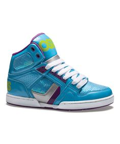 Take a look at this Blue & Lime NYC 83 Slim Hi-Top Sneaker - Women by Osiris Shoes on #zulily today!