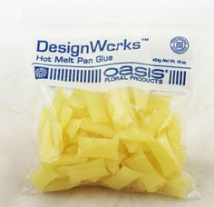 DesignWorks Smithers Oasis Hot Melt Pan Glue - FULL bag 16 ounce  ONLY: $11.99 at King's Wholesale