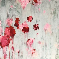 abstract art by sonja blaess. Abstract Flowers, Watercolor Flowers, Watercolour, Abstract Art, Cy Twombly Art, Floral Paintings, Artist Painting, Painting Inspiration, Modern Art