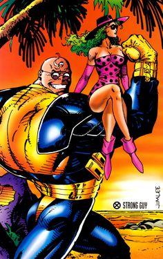 The Marvel X-Men Collection by Jim Lee Marvel Heroes, Marvel Comics, Polaris Marvel, Jim Lee Art, Strong Guy, Cartoon Photo, Man Lee, Sexy Cartoons, Comic Books Art