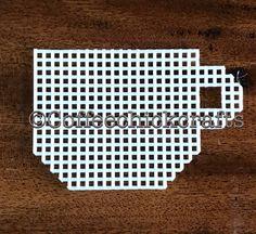 Cup Plastic Canvas Tea Cup Cut Out  Plastic Canvas Needlepoint