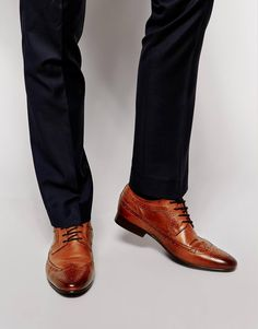 ASOS Brogues in Leather - Tan