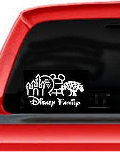 Disney Family Decal for your car or anywhere by DecalStation