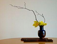 Ikebana flower arranging is absolutely beautiful.