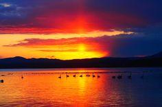 ##サロマ湖朝阳#朝日#空 Hokkaidou