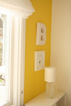 part of wall yellow.