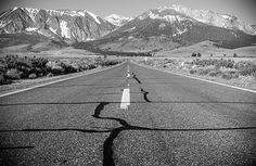 Hitting the road early around the June Lake Loop in Mono County, CA.