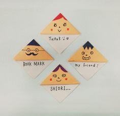 【制作時間1分】折り紙でつくる本の「しおり」の作り方 - ブックオフオンラインコラム