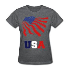 Patriotic USA and Flag Tee ~ 625