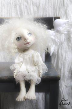 когда отдыхают ангелы... текстильная кукла