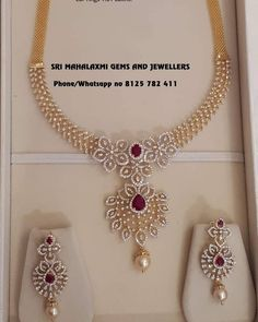 New designs of Diamond sets added. presenting here IGI certified Vvs Ef diamonds necklace with detachable locket n changeable color stones… Real Diamond Necklace, Diamond Jewelry, Gold Necklace, Pendant Necklace, Gold Jewelry Simple, Gold Jewellery Design, Bengali Wedding, Diamonds, Stones