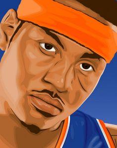 Carmelo Anthony Portrait