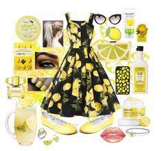 """Sweet Lemon Inspiration 🍋"" by snowflakeunique ❤ liked on Polyvore featuring SkinCare, ABS by Allen Schwartz, Casetify, Alice + Olivia, David Yurman, Miu Miu, Versace, J.R. Watkins, Tony Moly and PINTRILL"