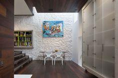 Architecture, Maison Escalier: Contemporary Brick and Stone Suburban House: Maison Escalier Study Room
