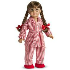 Molly's Pajamas were introduced to Molly's Collection in 1986 and retired in 2013. Red and white striped cuffed pajama pants. Elastic waistband.