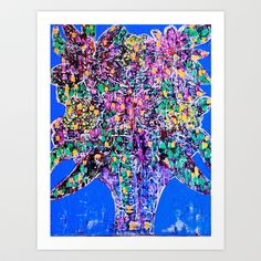 Floral Frenzy Art Print by Glint & Lime - $20.00