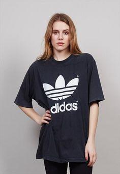 Classic+black+vintage+oversized+Adidas+T-Shirt++3432