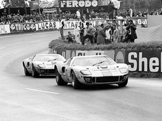 John Wyer/Gulf Ford GT 40's at Le Mans 1968 by Nigel Smuckatelli, via Flickr
