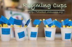 Rhyming cups