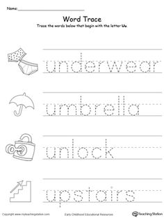 Trace Letter Worksheets Free Umbrella 001 was last modified: January 2020 by admin Printable Alphabet Worksheets, Preschool Learning, Kindergarten Worksheets, Worksheets For Kids, Free Printable, Kindergarten Class, Teaching, Preschool Letters, Learning Letters