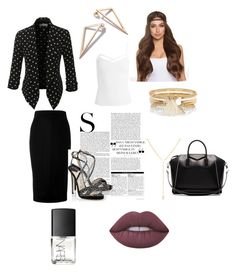 """Untitled #245"" by hollicakes on Polyvore featuring Victoria Beckham, Sans Souci, LE3NO, Jimmy Choo, River Island, Givenchy, NARS Cosmetics and Lime Crime"