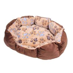 Pet Products Humor 2018 New Round Warm Pet Bed For Dogs Soft Silk Cotton Linen Pet Dog Mat Breathable Bone Dog Sleeping Mat Cat Sofa