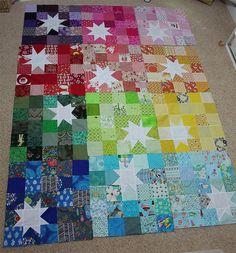 YAY all my reverse rainbow starburst blocks are here!! by Flutter from.Kat (Mummastimetocreate), via Flickr